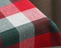 "Blue Purple Plaid Fabric- Cotton Fabric With White Purple Blue Plaid - Fabric by yard  1/2 Yard 18""X55"""