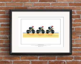 Team GB Women's Cycling Pursuit Team, London 2012 Olympics ART POSTER A2 size