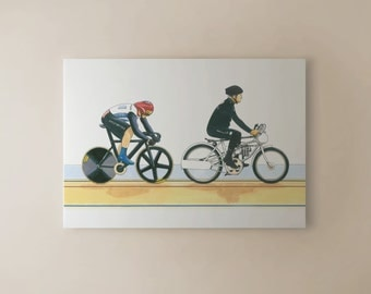 Sir Chris Hoy, Keirin, London 2012 Olympics CANVAS PRINT