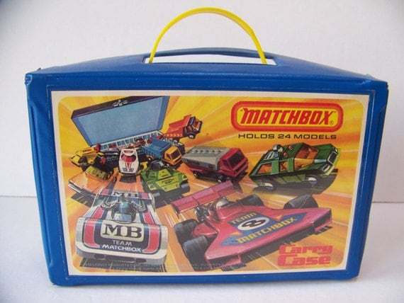 1970s Toys For Boys : Vintage matchbox carrying case
