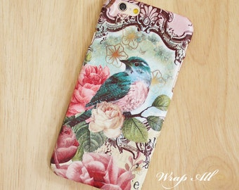 Bird and Roses iPhone case iPhone SE case iPhone 6S case iPhone 6 case iPhone 6S Plus case iPhone 6 Plus case iPhone 5S case iPhone 4S case