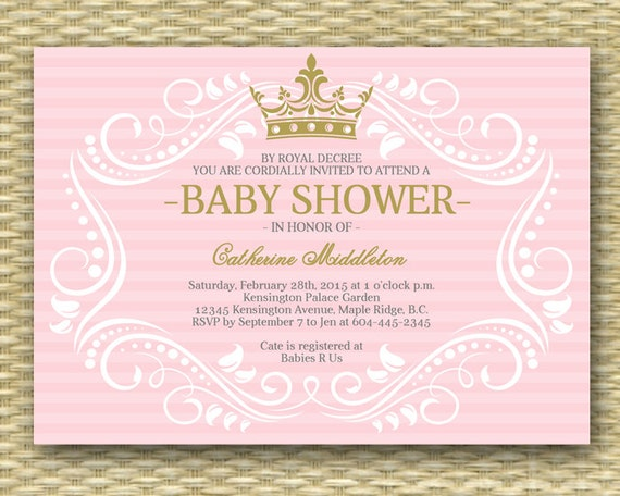 Free Printable Princess Baby Shower Invitations could be nice ideas for your invitation template