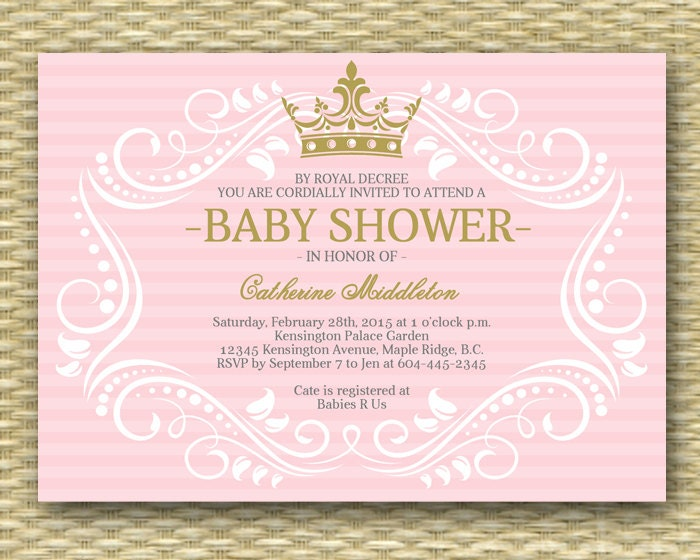 royal princess baby shower invitation little princess baby