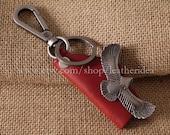 100% Genuine leather Handmade Luxury Eagle Leather Key Holder , Leather Key Chain , Motorcycle Car keychain