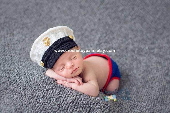 Crochet Baby Marine Hat Pattern : Original Design Crochet Marine Corps and by CrochetbyPalmLLC