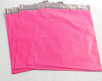 100 Pack Pink 12x15.5   Raspberry Pink Poly Mailers, Flat Poly Mailing Shipping Bags, Poly Mailer Shipping Envelope Plastic Shipping Bags