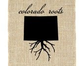 Colorado Roots Unframed Art, Burlap Art, Choose your State Roots, State Roots, Custom Roots