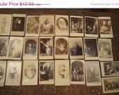 HUGE SALE 25 antique religious cdv prints biblical art, Alphonse Roehn, Caspar Netscher, Gabriel Metzu, Pietro Testa
