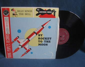 "RARE, Vintage ""By Rocket To The Moon"". Raymond Scott Quintet, Vinyl LP Record Album, In Shrink, Young People's Records, Billy Rings The Bell"