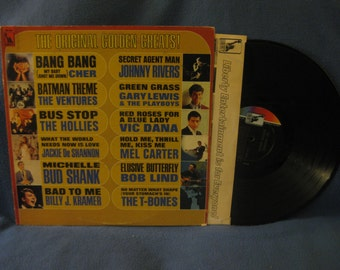 "Vintage, ""The Original Golden Greats"", Compilation, Vinyl LP, Record Album, Cher Bang Bang, Ventures Batman Theme, Gary Lewis, The Hollies"