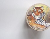 Tiger, Tiger Gift, Tooth Fairy Box,Wooden Box, YOU CHOOSE COLOR of box, Ring Box, Pill Box, Gift Under 10, Jewelry Box