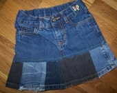 Lil' Hags.....Upcycled denim...girls Hippie skirt....Carters size 5.....Free shipping in US.....