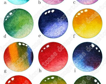 Drops of water Charm Round Clear Glass Cabochons - Handmade Glass Photo Cabochon ---10mm 12mm 14mm 16mm 18mm 20mm 25mm 30mm---