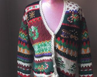 Festive Christmas Holiday Ugly Sweater