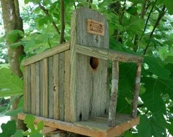 Rustic Cedar Storefront Birdhouse