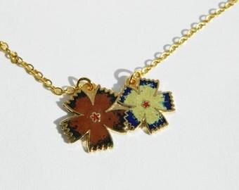 Flower Enamel 18K Gold Filled Necklace