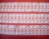 """Romantic  Beading Lace Trim, Ivory , 1 3/4"""" inch wide, 1 Yard, For Victorian & Romantic Projects"""