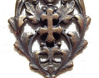 French Cross of Lorraine Rosary Centerpiece Center VP4711