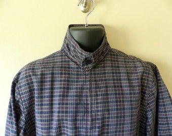 Vintage 50s CAMPUS work wear jacket / 1950s mens golf car coat Ricky rockabilly VLV mad men / plaid windbreaker Talon zipper S M / chest 46