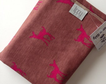 Deer baby blanket, swaddle. Baby girl. Perfect for the season! Blanket size: Size 31 by 40 inches. Lippy brand. Fawn pink brown trendy girl