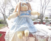 1983 Cabbage Patch Dolls She is 23 inches Long soft sculpture doll /Little People/Not included in Discount Coupon Sale :) S