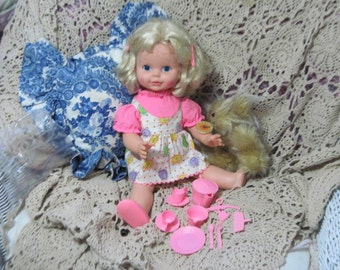 Timey Tell Doll and Some of Her Accessory's  Mattel Doll,Vintage Mattel Doll, Vintage Talking Doll, Vintage Doll