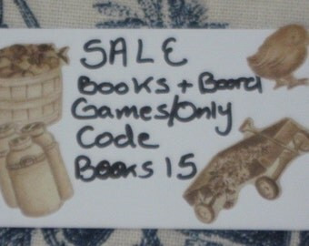 ALL Books and Board Games On Sale  ONLY /  Code BOOKS15 For 15 % Off