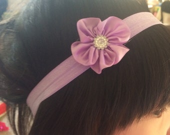 Set of FIVE- Flower Headband Baby Headbands - You PICK the COLORS