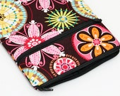 Samsung Galaxy Tab 4 7.0 sleeve, Kindle Fire Pouch, Custom Tablet Cover with Zip Pocket - carnival blooms