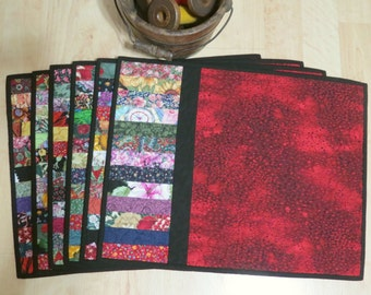 Scrap Placemat Quilted Red 415