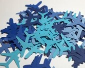75 Airplane Die Cuts (Mixed Blues)/Table Confetti/Embellishments/Party Decor No. 265