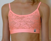 Ballet top in apricot/lace