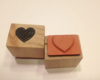 small heart rubber stamp, 16 mm (BB4/2)