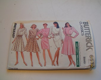 Butterick Pattern 6572 Classics Miss Dress