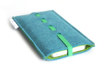 iPhone 7 case, iPhone 7 Plus Sleeve, iPhone 6S Case, iPhone 6s Plus Sleeve, Samsung, Nexus. HTC- Wave- Teal Blue & Olive Green