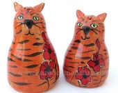 Orange Tabby Cat Salt and Pepper Shakers,Made to Order