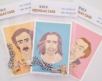 Nicolas Cage Wall Hanging Kit - 3 Prints