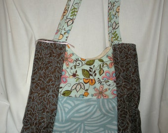 Multi-Colored Quilted Tote