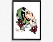 Original Illustration Fleetwood Mac Rhiannon Gypsy Flash Art Print