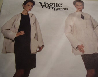 Vogue 2018 American Designer Geoffrey Beene Jacket and Dress Sewing Pattern, Size 6-8-10, Bust 30 1/2, 31 1/2, 32 1/2