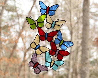 Stained Glass Butterfly sun catcher