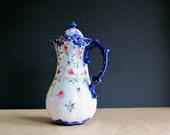 Antique Chocolate Pot, Cobalt Blue Wedding