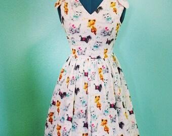 Elsie Dress - 1950s vintage style reproduction custom handmade