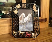 Midnight Ride Embellished Picture Frame (holds 5x7 photo) by Kay Creatives