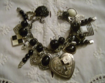 Forbidden Love OOAK Charm Bracelet by Kay Creatives