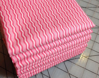 Riley Blake Hipster Cottons - Crimp in Hot Pink - fat quarter - 100% cotton
