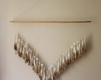 Ombre Dyed Tassel Wall Hanging - Tea Color