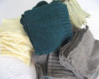 yellow green hunting wool cutter scraps blanket supplies felt felting