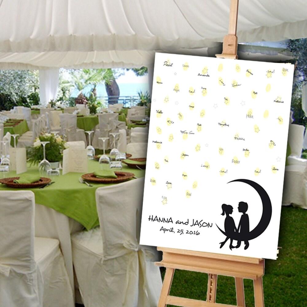 Cute Wedding Guest Book Ideas: Romantic Wedding Guest Book Alternative. A Cute Couple Sitting