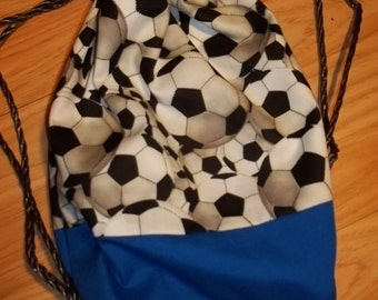 Soccer Football Backpack Cinchsack Children's Kid's Toddler's Sports CHOose STyle